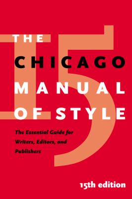 The Chicago manual of style.