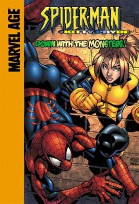 Spider-Man and Kitty Pryde in Down with the monsters!