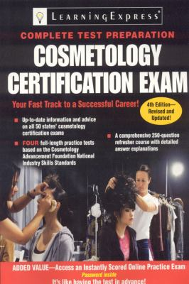 Cosmetology certification exam.