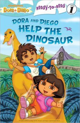 Dora and Diego help the dinosaur