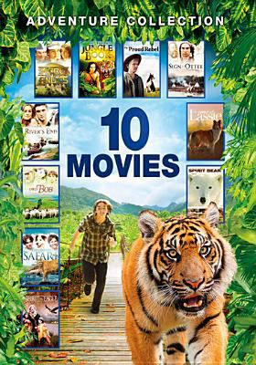 10 movie adventure pack : Secret of the Andes. Hollywood safari. Lassie, the painted hills. River's end. Proud rebel. Sign of the otter, the little patriot. Simon and the spirit bear. Owd bob. Spirit of the eagle. Jungle book.