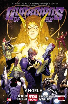 Guardians of the Galaxy. [2], Angela / writer, Brian Michael Bendis ; consultant, Neil Gaiman ; artists, Sara Pichelli with Olivier Coipel & Mark Morales and Valerio Schiti.