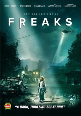 Freaks / Wise Daughter Films in association with My Way Productions and Storyboard Capital Group ; an Amazing Incorporated production ; written and directed by Zach Lipovsky & Adam Stein ; produced by Adam Stein, Zach Lipovsky, Jordan Barber, Mitchell Waxman.