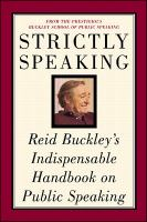 Go to record Strictly speaking : Reid Buckley's indispensable handbook ...