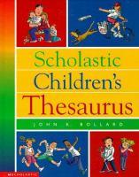 Go to record Scholastic children's thesaurus