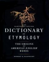 Go to record The Barnhart concise dictionary of etymology
