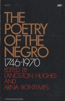 The poetry of the Negro, 1746-1970 Cover Image