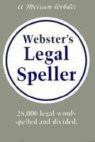 Go to record Webster's legal speller.