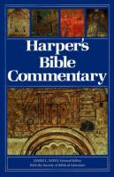 Harper's Bible commentary Book cover