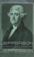 Jefferson on Jefferson  Cover Image