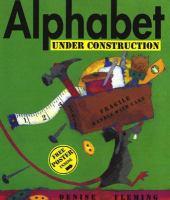 Alphabet under construction Book cover
