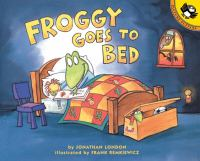 Froggy goes to bed Book cover