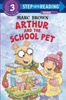 Arthur and the school pet Book cover