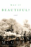 Go to record Was it beautiful? : a novel