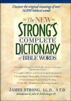 Go to record The new Strong's complete dictionary of Bible words