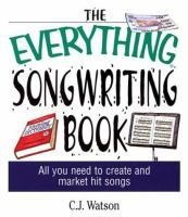 Go to record The everything songwriting book