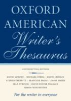 Go to record The Oxford American writer's thesaurus