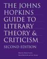 Go to record The Johns Hopkins guide to literary theory & criticism