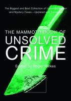 The mammoth book of unsolved crimes  Cover Image