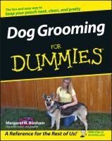 Dog grooming for dummies Book cover