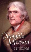 The quotable Jefferson  Cover Image