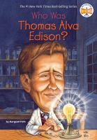Who was Thomas Alva Edison?  Cover Image