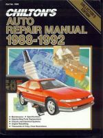 Chilton's auto repair manual, 1988-1992 Book cover
