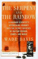 The serpent and the rainbow Book cover