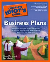 Go to record The complete idiot's guide to business plans