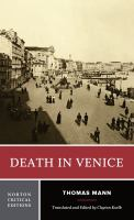 Go to record Death in Venice : a new translation, backgrounds and conte...