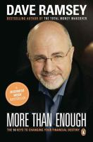 More than enough : the ten keys to changing your financial destiny Book cover