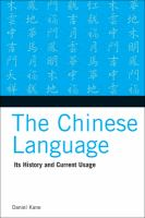 Go to record The Chinese language : its history and current usage