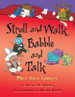 Stroll and walk, babble and talk : more about synonyms Book cover