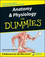 Anatomy & physiology for dummies Book cover