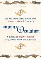 The Oculatum : a book of great insight for those who wish to see  Cover Image