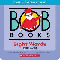 Bob books. Sight words kindergarten Book cover