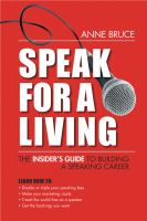 Go to record Speak for a living : the insider's guide to building a spe...