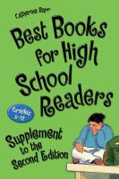 Best books for high school readers : grades 9-12. Supplement to the second edition  Cover Image