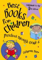 Best books for children : preschool through grade 6. Supplement to the 9th edition  Cover Image