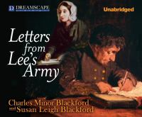 Go to record Letters from Lee's army
