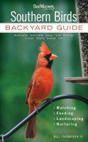 Southern birds : backyard guide : watching - feeding - landscaping - nurturing Book cover