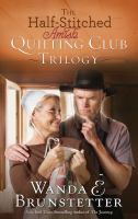 Half-stitched Amish quilting club trilogy Book cover