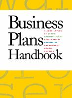 Business plans handbook. Volume 32 : a compilation of business plans developed by individuals throughout North America  Cover Image