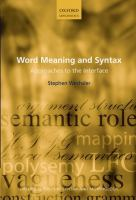 Go to record Word meaning and syntax : approaches to the interface