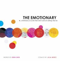 The emotionary : n. a dictionary of words that don't exist for feelings that do  Cover Image