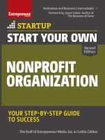 Start your own nonprofit organization : your step-by-step guide to success  Cover Image