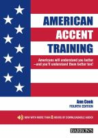 Go to record American accent training : a guide to speaking and pronoun...