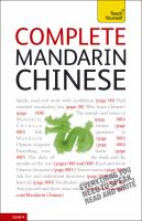 Go to record Complete Mandarin Chinese