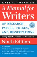 A manual for writers of research papers, theses, and dissertations : Chicago Style for students and researchers Book cover