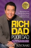Rich Dad, Poor Dad : with updates for today's world and 9 new study session sections  Cover Image